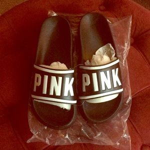 Victoria's Secret Pink Slides Large 9/10 NWT